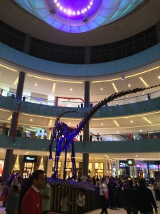 T-Rex at the entrance of the Dubai Mall
